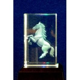 3D Kristall, Motiv stehendes Pferd