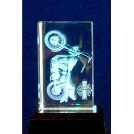 3D Kristall, Motiv Motorrad