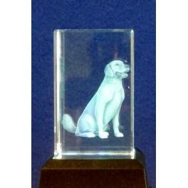 3D Kristall Motiv Hund