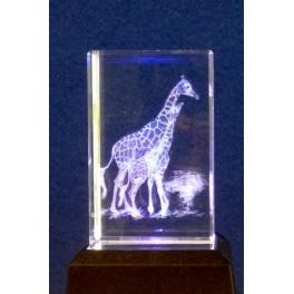 3D Kristall Motiv zwei Giraffen