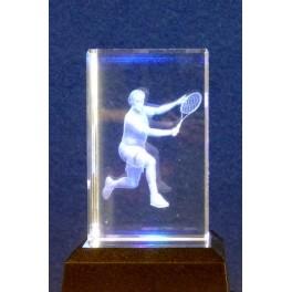 3D Kristall Motiv Tennis