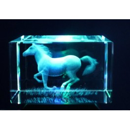 3D Kristall Motiv galoppierendes Pferd