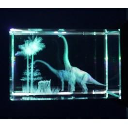 3D Kristall Motiv zwei Langhalsdinosaurier