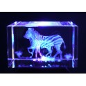 3D Kristall Motiv zwei Zebras