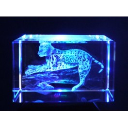 3D Kristall Motiv Leopard