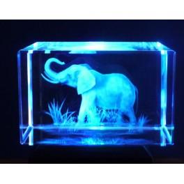 3D Kristall Motiv Elefant