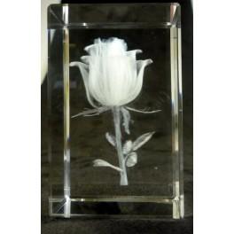 3D Kristall Motiv Rose