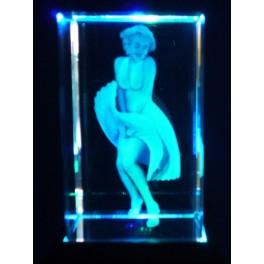 3D Kristall Motiv Marilyn Monroe