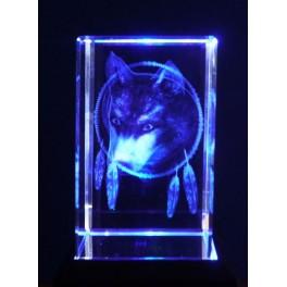 3D Kristall, Motiv Wolf